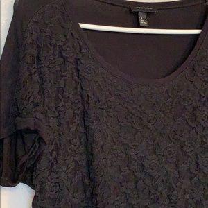 AB Studio Black Lace Top